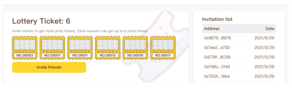 6枚のチケットを獲得して、エアドロップに挑戦しましょう!